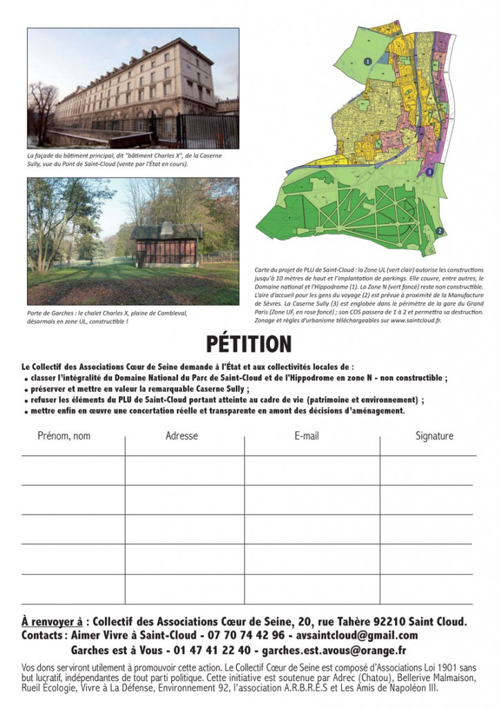 Domaine national Parc de Saint-Cloud - Petition Page 2